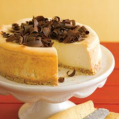 New York cheesecake.  great with any topping!