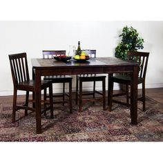 Sedona Slate Top Dining Table U0026 Chairs In Rustic Oak By Sunny Designs |  Furniture | Pinterest | Slate, Furniture Retailers And Online Furniture  Stores