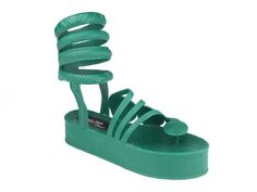 Shoe-Icons / Shoes / Plastic moulded platform shoes with Velcro ankle strap.