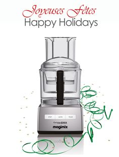 To celebrate the holidays and all of the generous support this past year, I'm giving away some of my favorite items all week! Magimix Food Processor, 16-cup Brushed Chrome Model
