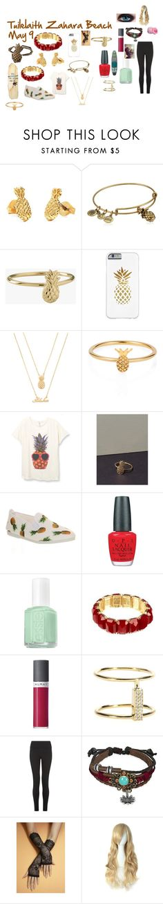 """""""I'm going to the beach so I will be right back!"""" by thepinkandpurplerainbow ❤ liked on Polyvore featuring Bing Bang, Alex and Ani, Forever 21, Lee Renee, Flossy, OPI, Essie, Haskell, Almay and Ileana Makri"""