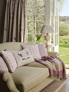 Compliment our Foxglove Linen Made to Measure curtains with the hand embroidered cushion. Cottage Living Rooms, Living Room Sofa, Home Living Room, Living Room Decor, Cottage Bedrooms, Dining Room, Cottage Curtains, Kitchen Curtains, Living Room Inspiration