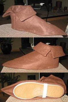 Zapatos de duende con fieltro