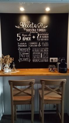 Mural para el restaurante triana chalkboard wall for triana chalkboards by clara susanna - Vinilos decorativos bilbao ...