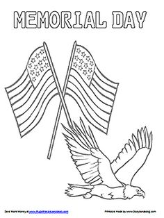 A Memorial Day Coloring sheet from RoseArt! Just click