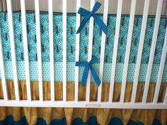 Beautiful Golden Peacock Crib Set Ready to by butterbeansboutique, $335.00