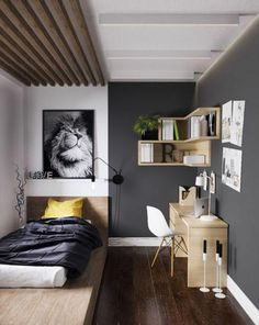 10 Centered Simple Ideas: Minimalist Bedroom Men Platform Beds minimalist home decoration life.Minimalist Bedroom Green Chairs minimalist home organization small spaces. Small Bedroom Designs, Small Room Design, Bedroom Ideas For Men Small, Bedroom Small, Design Room, Boys Bedroom Ideas Teenagers Small Spaces, Bedrooms For Men, Small Kids Rooms, Interior Design Ideas For Small Spaces