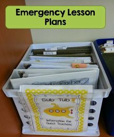 2 Peas and a Dog: How to Set Up a Middle School Classroom. Emergency sub plans...I need to do this!