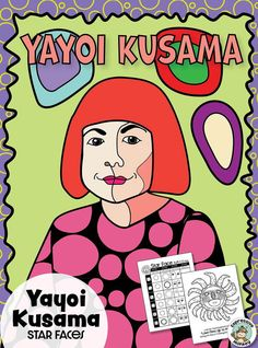 """Star faces inspired by the face motifs in her """"My Eternal Soul"""" painting series. This drawing art lesson also includes a portrait coloring page and a coloring page of her Thanksgiving Day balloon, """"Love Flies Up to the Sky"""". Art Lessons For Kids, Art Activities For Kids, Artists For Kids, Art For Kids, Yayoi Kusama, Eternal Soul, Art Handouts, Drawing Stars, 3rd Grade Art"""