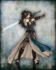Jedi Master Sakiko Ryuuzaki by KaelaCroftArt.deviantart.com on @deviantART