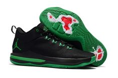 quality design dd2aa 03c7a Mens Nike Air Jordan CP3 X Basketball Shoes Black Dark Green,Jordan-CP3  Shoes