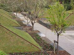 METIDO EN JARDINES: Poda de árboles frutales III: poda de formación II (formas libres) Sidewalk, Gardens, Landscaping, Vegetable Gardening, Shapes, Plants, Side Walkway, Sidewalks, Pavement