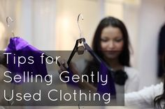 How to sell used clothes online and at boutiques and consignment shops like Buffalo Exchange. Advice on how to use Poshmark and eBay. By Wardrobe Oxygen.