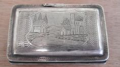 Etched Silver Card Case  Vintage 1950's   Debit by ChicAvantGarde