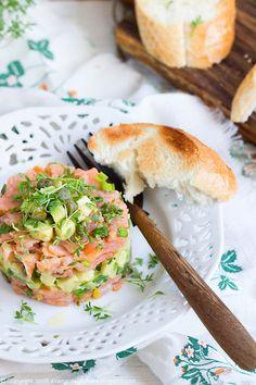 Salmon Tartare, Salmon Avocado, Smoked Salmon, Mango, Fresh Rolls, Salmon Burgers, I Foods, Seafood, Appetizers
