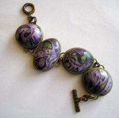 Bracelet by Susan-White using the Organic CaBezel mold