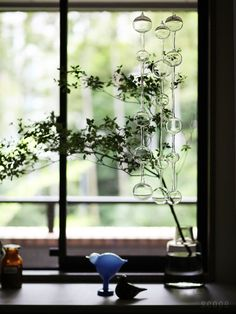 Iittala, Ateenan Aamu by Kaj Franck, clear glass ornaments Succulents Wallpaper, Clear Glass Ornaments, Inside A House, Looking Out The Window, Window View, Slow Living, Cozy House, Flower Vases, Interior And Exterior