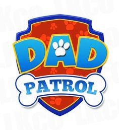 Paw Patrol Iron On Transfer - Dad Patrol Sky Paw Patrol, Rubble Paw Patrol, Paw Patrol Cake, Paw Patrol Party, Paw Patrol Pinata, Unicorn Birthday Parties, Boy Birthday, Birthday Ideas, Escudo Paw Patrol