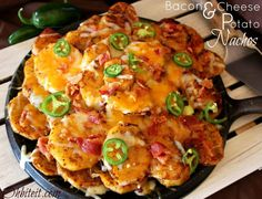 ~Bacon  Cheese Potato Nachos!