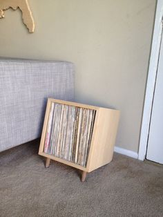 simple record storage by ericervinwoodwork on Etsy, $45.00