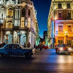 Photo @pedromcbride// The aged lights of Havana, #cuba at dusk. To see more of this complex, colorful,  timeless world, follow @pedromcbride. #light #photography #travel #petemcbride