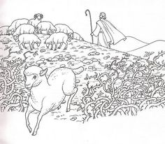 The Good Shepherd The Lost Sheep Coloring Page  Good Shepherd