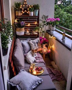 40 inspiring small balcony garden furniture ideas for small apartment 40 Small Balcony Garden, Small Balcony Decor, Outdoor Balcony, Small Patio, Balcony Ideas, Patio Ideas, The Balcony, Patio Decorating Ideas On A Budget, Small Balconies