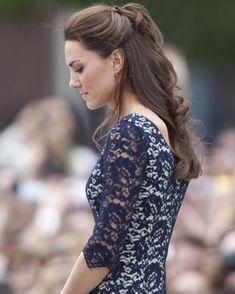 Demi chignon How-to; Kate Middleton