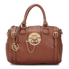 Michael Kors Soft Leather Medium Brown Totes