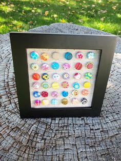 Framed covered buttons