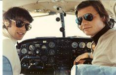 François Cevert et José Dolhem (demi frère de Didier Pironi) 1972