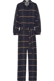 Étoile Isabel Marant Vick checked cotton-organza jumpsuit | THE OUTNET