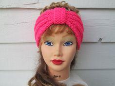 Turban Headband Hand Knit Ear Warmer headband by Ritaknitsall, $25.00