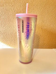 Starbucks Holiday Iridescent Tumbler on Mercari Pink Starbucks Cup, Starbucks Tumbler Cup, Custom Starbucks Cup, Starbucks Drinks, Starbucks Merchandise, Thermos, Tumblr Cup, Unicorn Themed Birthday Party, Cute Water Bottles