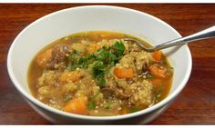Hearty beef and quinoa stew