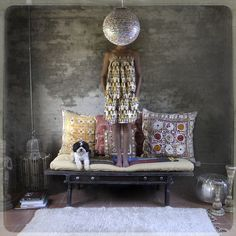 """heidi lender- indian bench. """"What began as a self-imposed weekly photo assignment — """"Stand on a bench. Make sure it's Monday. Wear something pretty."""" — transformed into this who-am-I photo-tale exploring the individual in various environments and apparel."""""""