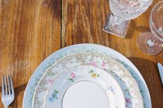 Mix and match the perfect patterns of vintage china. Vintage tableware rentals and event styling - The Darling Dish - Bend, Or