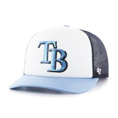 new concept e13c0 8d09d Tampa Bay Rays Glimmer Captain Cf Navy 47 Brand Womens Hat Rays Logo,  Detroit Game