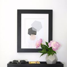 Print this geometric art for your modern space.