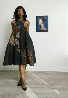 d4154d3dae6 Sosome Ladies loose fit Black and Brown African Ankara Print Dress Easy to  wear and perfect for any Classy occasion. Beautifully constructed womens  Ankara ...