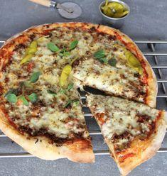 Baka en superläcker tacopizza –klicka här för recept! Food Art, A Food, Good Food, Food And Drink, Perfect Pizza, My Cookbook, Small Meals, Enchiladas, Vegetable Pizza