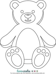"Print out this free printable teddy bear and stick it in your window! Kids will be able to spot it on their next outdoor ""bear hunt."" Three different bear designs are available to choose from. Halloween Crafts For Kids, Craft Projects For Kids, Craft Ideas, Kids Crafts, Diy Projects, Free Printable Calendar Templates, Free Printables, Printable Activities For Kids, Free Stencils"