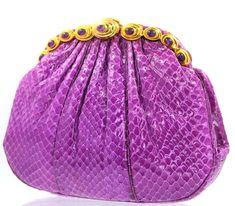 b015a07e9 Judith Leiber Snake Skin Fuschia Purple Amethyst Gems Gold Shoulder Bag  Vintage #JudithLeiberlieberDesignerCouture  #EveningBagClutchShoulderCrossbody
