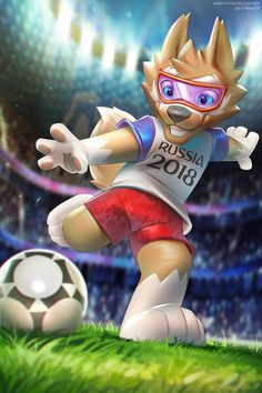 Zabivaka the wolf - 2018 World Cup mascot  #football #soccer #worldcup2018 #russia2018