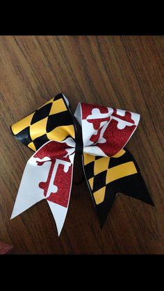 Maryland State Flag Bow ❤️