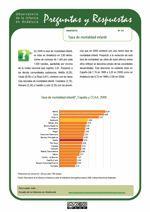 Tasa de mortalidad infantil. España y CC.AA. 2009