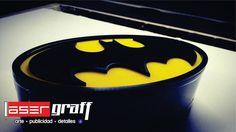 Lampara de acrilico con leds de Batman
