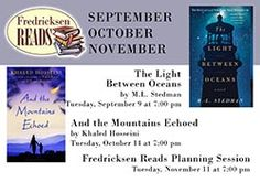 Join us at our remaining two Fredricksen Reads Sessions!