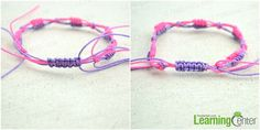 Make slip knot friendship bracelet-- part 4