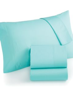 Martha Stewart Collection 220 Thread Count Solid Sheet Sets - Sheets - Bed & Bath - Macy's